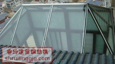 透明屋顶式钢结构阳光玻