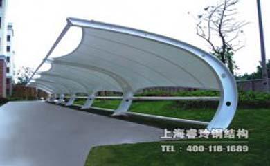 钢结构膜结构车棚