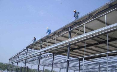 钢结构施工现场